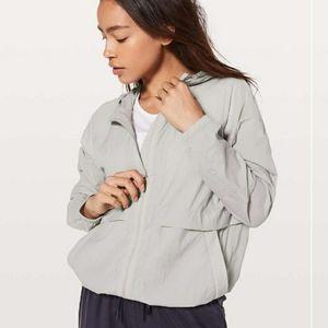 LULULEMON Light hooded Jacket Grey szS